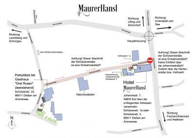 Maurerhansl - Überblick und Parkplätze