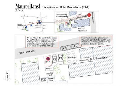 Parkplätze am Hotel Maurerhansl (P1-4)